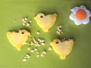 easter pineapple chicks for fussy eater children